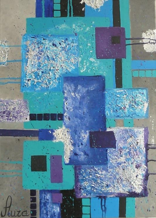 SOLD. Mėlynoji abstrakcija/ 50x70